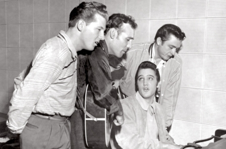 The Million Dollar Quartet, 12/4/56, Jerry Lee Lewis, Carl Perkins, Elvis Presley, and Johnny Cash