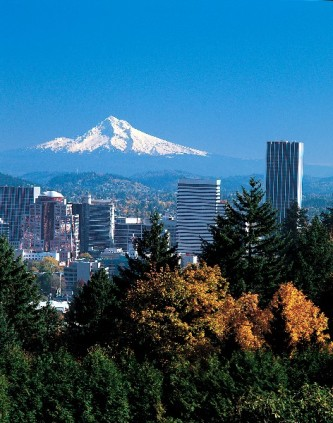 Mt Hood overlooking Portland Oregon
