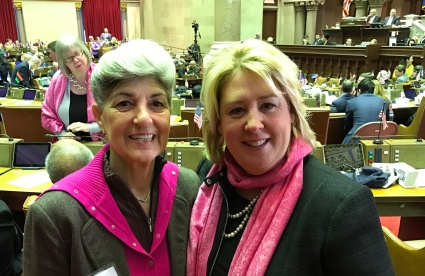 Myself and Assembly Member Rebecca Seawright